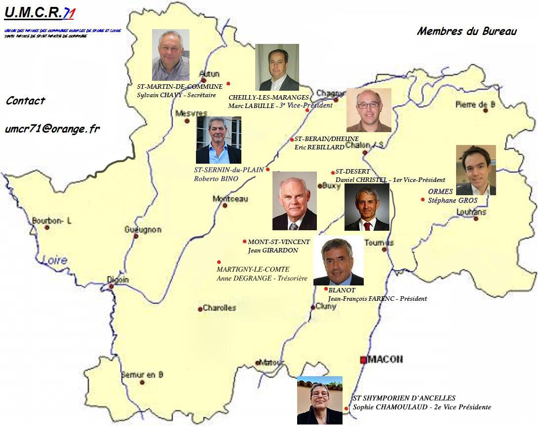 membres bureaux UMCR 71 - 2021